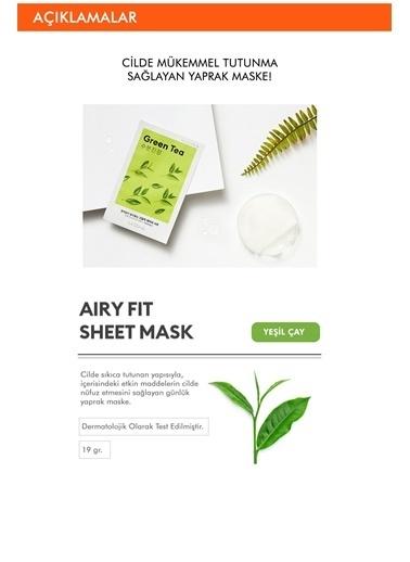 Missha Yeşil Çaylı Yatıştırıcı Ve Nemlendirici Yaprak Maske (1Ad) Airy Fit Sheet Mask Green Tea Renksiz